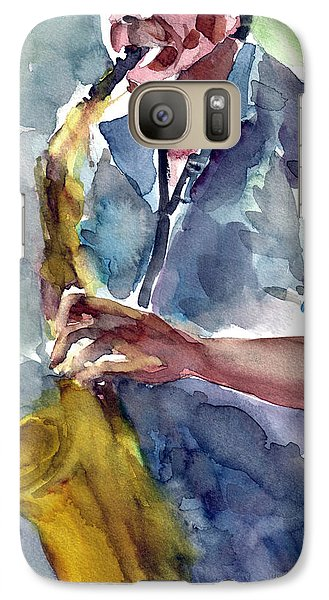 Galaxy Case featuring the painting Saxophonist by Faruk Koksal