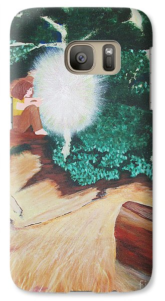 Galaxy Case featuring the painting Saying Hello by Cheryl Bailey