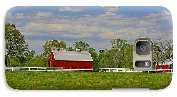 Galaxy Case featuring the photograph Sc Horse Farm by Andy Lawless