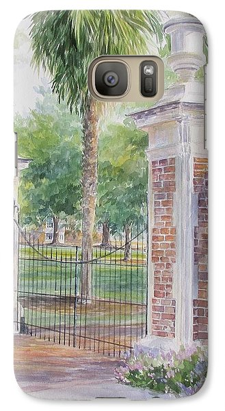 Galaxy Case featuring the painting South Carolina. Horseshoe Sold by Gloria Turner