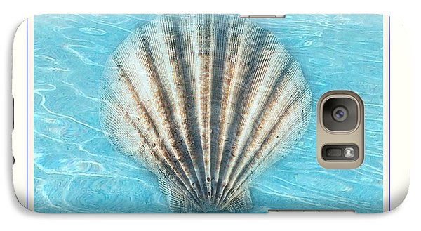 Galaxy Case featuring the photograph Scallop Underwater by Linda Olsen