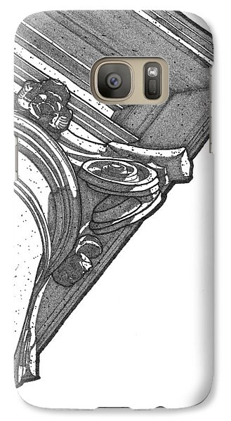Galaxy Case featuring the drawing Scamozzi Column Capital by Calvin Durham