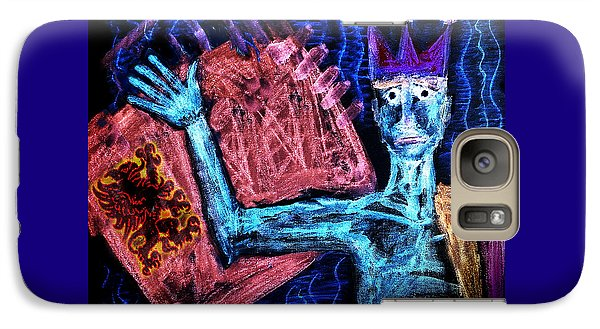 Galaxy Case featuring the painting Scared  King by Hartmut Jager