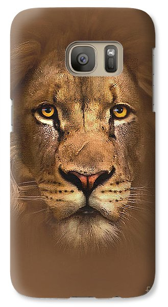 Scarface Lion Galaxy S7 Case by Robert Foster