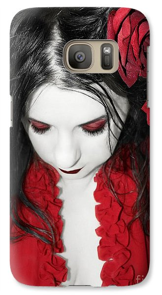 Galaxy Case featuring the photograph Scarlet by Heather King