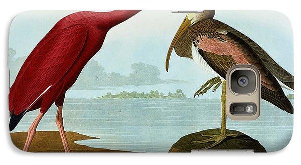 Ibis Galaxy S7 Case - Scarlet Ibis by John James Audubon
