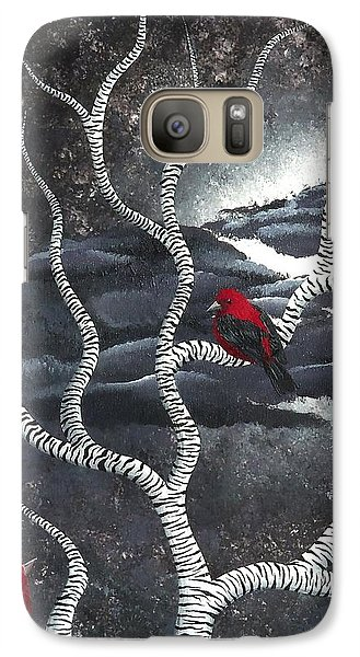 Galaxy Case featuring the painting Scarlet Night by Oddball Art Co by Lizzy Love