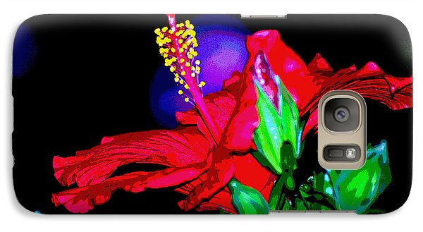 Galaxy Case featuring the photograph Scarlett by Linda Cox