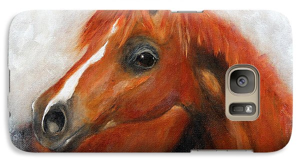 Galaxy Case featuring the painting Scarlett by Barbie Batson