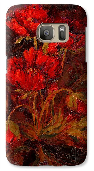 Galaxy Case featuring the painting Scarlett's Song by Karen Mattson