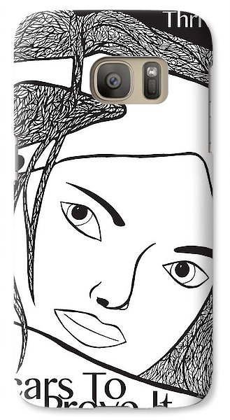 Galaxy Case featuring the drawing Scars To Prove It Dont Just Survive...thrive by Jamie Lynn