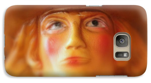 Galaxy Case featuring the photograph Scary Cowgirl by Lynn Sprowl