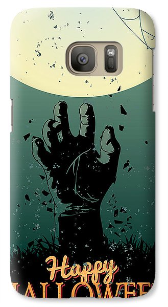Galaxy Case featuring the painting Scary Halloween by Gianfranco Weiss