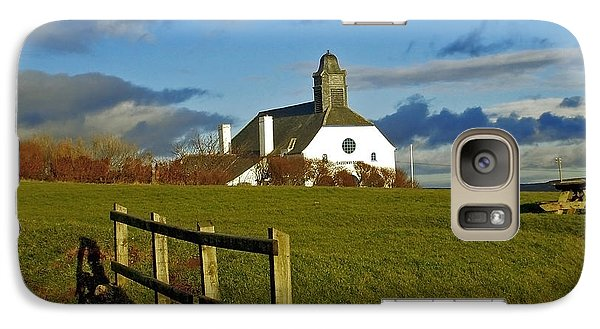 Galaxy Case featuring the photograph Scene From Giants Causeway by Nina Ficur Feenan