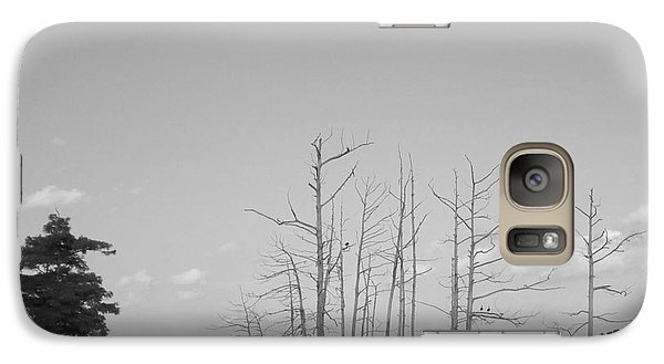 Galaxy Case featuring the photograph Scenic Swamp Cypress Trees Black And White by Joseph Baril