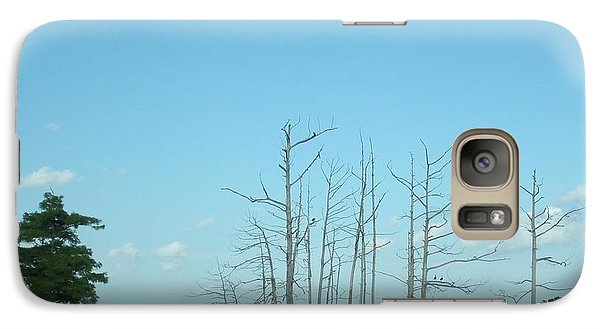 Galaxy Case featuring the photograph Scenic Swamp Cypress Trees by Joseph Baril