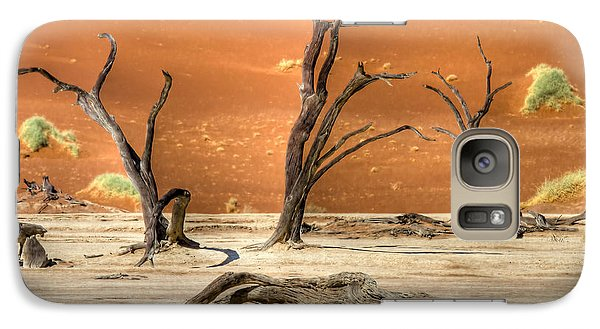 Galaxy Case featuring the photograph Scenic View At Sossusvlei by Juergen Klust