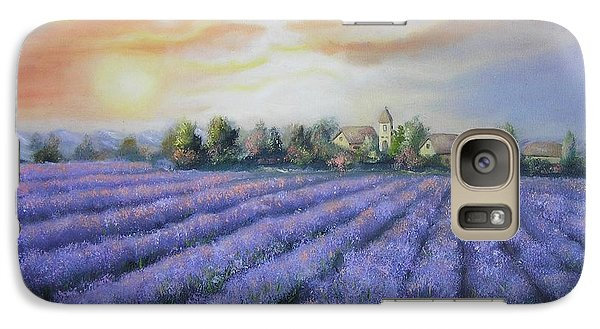 Galaxy Case featuring the painting Scented Field by Vesna Martinjak