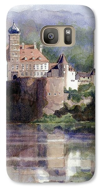 Galaxy Case featuring the painting Schonbuhel Castle In Austria by Janet King