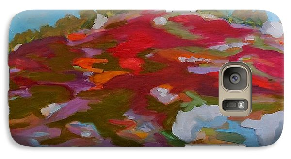 Galaxy Case featuring the painting Schoodic Trail Blueberry Hill by Francine Frank