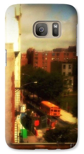 Galaxy Case featuring the photograph School Bus - New York City Street Scene by Miriam Danar