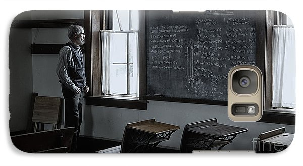 Galaxy Case featuring the photograph School Teach At Lower Fox Creek School In Kansas by Keith Kapple