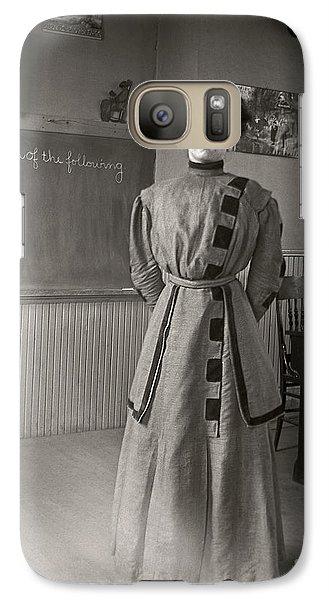 Galaxy Case featuring the photograph School Teacher 1890 by Martin Konopacki Restoration