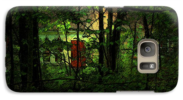 Galaxy Case featuring the digital art Schoolhouse At The Clearing - Ellison Bay - Door County - Wisconsin by David Blank