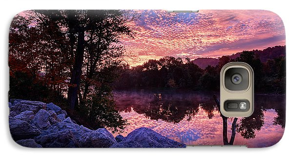 Galaxy Case featuring the photograph Scioto Sunrise by Jaki Miller