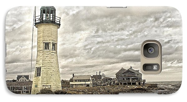 Galaxy Case featuring the photograph Scituate Lighthouse by Constantine Gregory