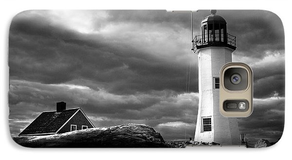 Galaxy Case featuring the photograph Scituate Lighthouse Under A Stormy Sky by Jeff Folger