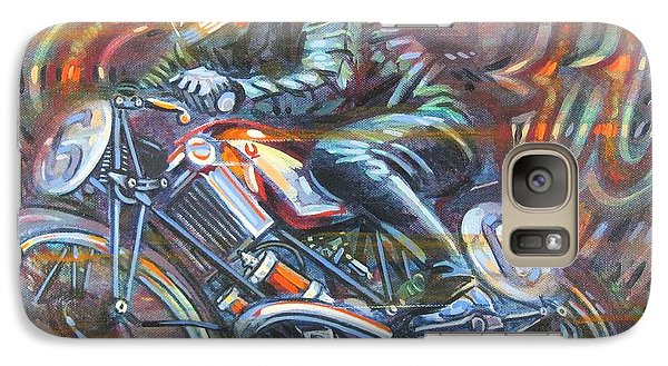 Galaxy Case featuring the painting Scott 2 by Mark Howard Jones