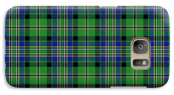 Galaxy Case featuring the photograph Scott Green Tartan Variant by Gregory Scott