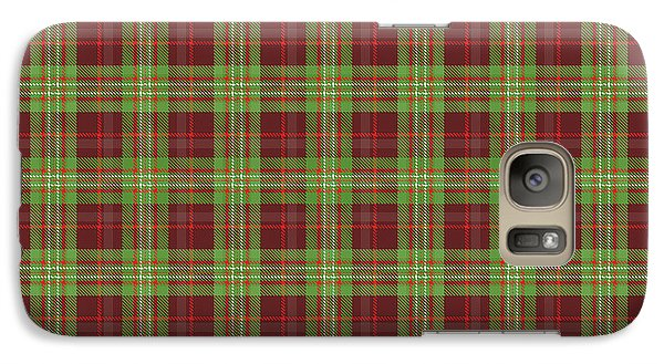 Galaxy Case featuring the digital art Scott Hunting Green Tartan Variant by Gregory Scott