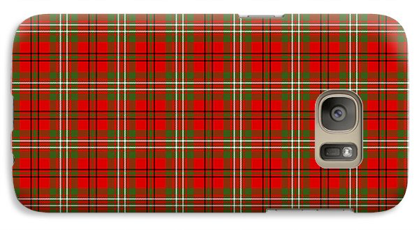 Galaxy Case featuring the digital art Scott Red Tartan Variant by Gregory Scott