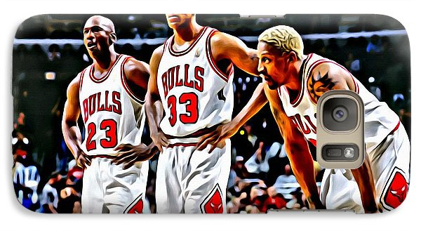 Scottie Pippen With Michael Jordan And Dennis Rodman Galaxy S7 Case