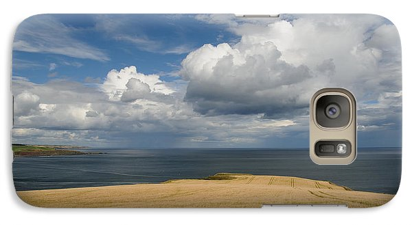 Galaxy Case featuring the photograph Scottish Coastal Wheatfield by Jeremy Voisey