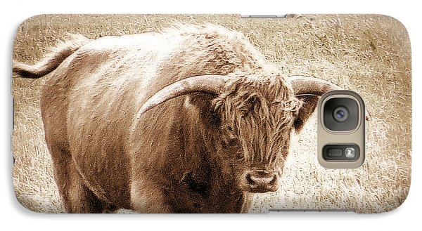 Galaxy S7 Case featuring the photograph Scottish Highlander Bull by Karen Shackles