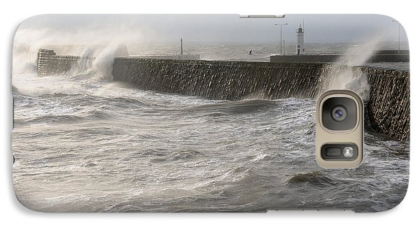 Galaxy Case featuring the photograph Scottish Sea Storm by Jeremy Voisey