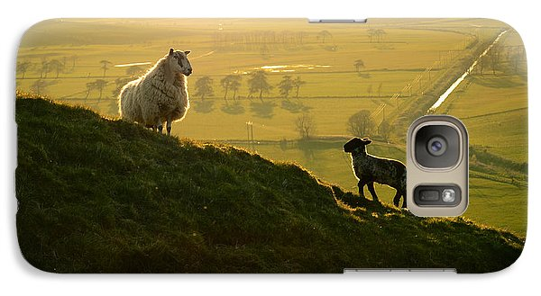 Scottish Sheep And Lamb Galaxy Case by Mr Doomits