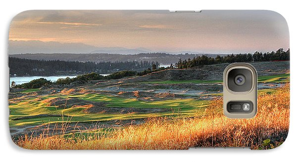 Galaxy Case featuring the photograph Scottish Style Links In September - Chambers Bay Golf Course by Chris Anderson