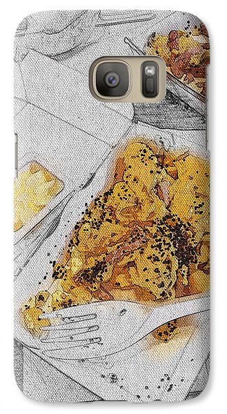 Galaxy Case featuring the digital art Scrabled Eggs At Mcdonalds Abstract by Nik Helbig