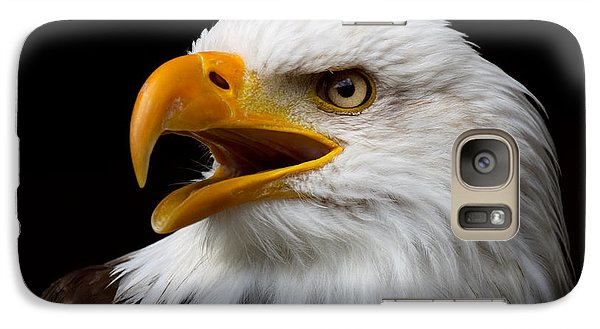 Galaxy Case featuring the photograph Screaming Bald Eagle by Nick  Biemans