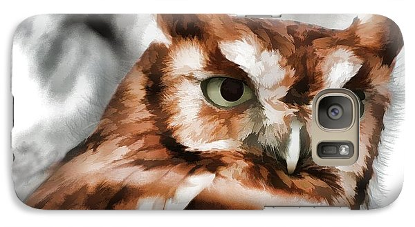 Galaxy Case featuring the photograph Screech Owl Photo Art by Constantine Gregory
