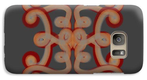Galaxy Case featuring the digital art Scroll by Christine Fournier