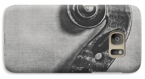 Violin Galaxy S7 Case - Scroll In Black And White by Emily Kay