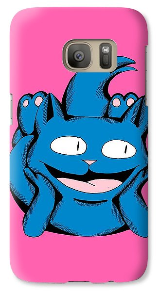 Galaxy Case featuring the drawing Scuba Smiling In Toy Colors by Pet Serrano