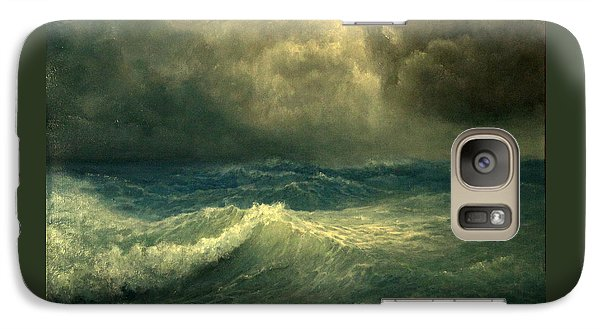 Galaxy Case featuring the painting Sea And Sky by Mikhail Savchenko