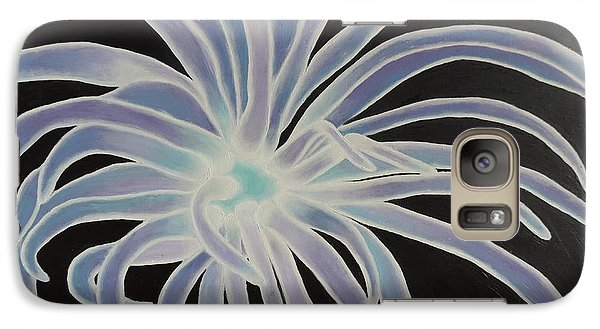 Galaxy Case featuring the painting Sea Anemone by Dianna Lewis