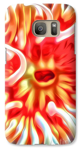 Galaxy Case featuring the digital art Sea Anemone by Gregory Dyer